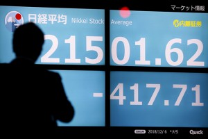 Tokyo stock tumbles 1.91 percent after Wall Street's big loss