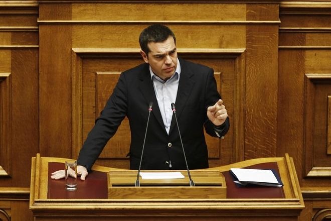 Ο πρωθυπουργός Αλέξης Τσίπρας μιλάει από το βήμα της Ολομέλειας της Βουλής στη συζήτηση και ψήφιση επί της αρχής, των άρθρων και του συνόλου του σχεδίου νόμου του Υπουργείου Εργασίας, Κοινωνικής Ασφάλισης και Κοινωνικής Αλληλεγγύης και του Υπουργείου Οικονομικών «Κατάργηση των διατάξεων περί μείωσης των συντάξεων και άλλες διατάξεις», Τρίτη 11 Δεκεμβρίου 2018. ΑΠΕ-ΜΠΕ/ΑΠΕ-ΜΠΕ/ΑΛΕΞΑΝΔΡΟΣ ΒΛΑΧΟΣ