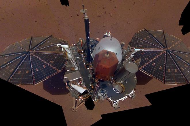 InSight σέλφι - Πηγή NASA-JPL-Caltech