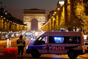 Police secure the Champs Elysees Avenue after one policeman was killed and another wounded in a shooting incident in Paris on April 20 2017- Credit-Christian Hartmann Reuters