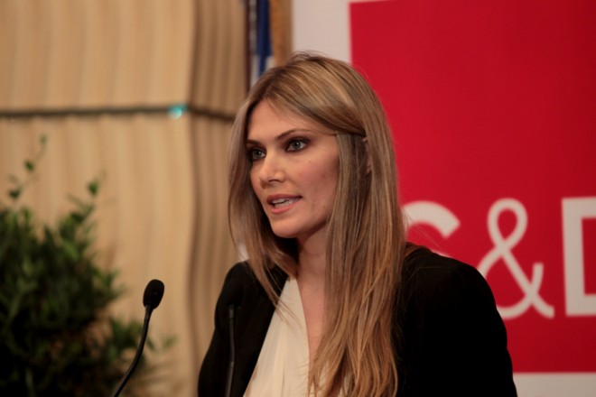 Η ευρωβουλευτής Εύα Καϊλή (στο βήμα) μιλά σε εκδήλωση του SD40, Παρασκευή 22 Μαΐου 2015 Με πρωτοβουλία της Ομάδας της Ελιάς στο Ευρωπαϊκό Κοινοβούλιο, διοργανώθηκε η πρώτη εκδήλωση του SD40 εκτός Βρυξελλών, με την συμμετοχή του Προέδρου της Προοδευτικής Συμμαχίας των Σοσιαλιστών και Δημοκρατών στο Ευρωπαϊκό Κοινοβούλιο (S&D) Gianni Pitella, του αντιπροέδρου του S&D Knut Fleckenstein καθώς και νέων Ελλήνων πολιτικών, νέων ευρωβουλευτών του S&D . ΑΠΕ-ΜΠΕ/ΑΠΕ-ΜΠΕ/Παντελής Σαίτας