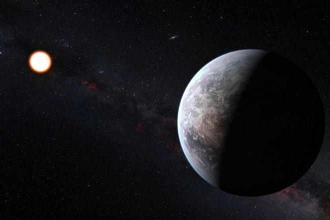 super-Earth exoplanet Image credit M. Kornmesser -ESO