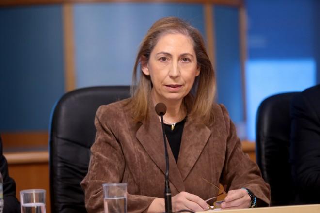 Η υπουργός Διοικητικής Ανασυγκρότησης Μαριλίζα Ξενογιαννακοπούλου κατά τη διάρκεια συνέντευξης τύπου στο Υπουργείο, την Τετάρτη 12 Δεκεμβρίου 2018. ΑΠΕ-ΜΠΕ/ΑΠΕ-ΜΠΕ/Παντελής Σαίτας