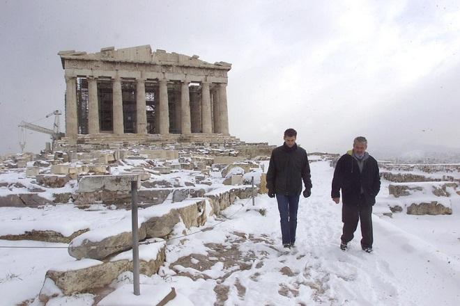 Χιόνια ακόμη και στο κέντρο της Αθήνας φέρνει ο «Τηλέμαχος»