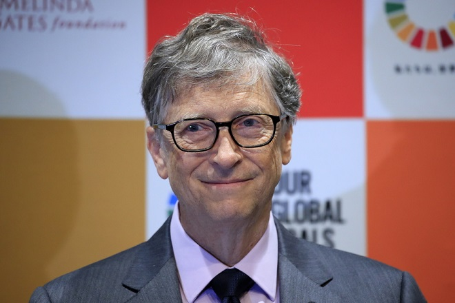 epa07152437 Bill Gates, co-Chairman of the Bill & Melinda Gates Foundation, attends a press conference in Tokyo, Japan, 09 November 2018. The Japan Sports Agency and the Bill and Melinda Gates Foundation announced a new partnership to utilize the momentum of the Olympic and Paralympic Games Tokyo 2020 to increase awareness of the Sustainable Development Goals (SDGs) with the launch of the 'Our Global Goals' campaign in 2019.  EPA/FRANCK ROBICHON