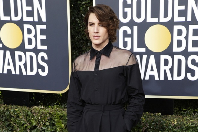 epa07266479 Cody Fern arrives for the 76th annual Golden Globe Awards ceremony at the Beverly Hilton Hotel, in Beverly Hills, California, USA, 06 January 2019.  EPA/MIKE NELSON *** Local Caption *** 52514391