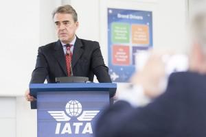 epa05665257 Alexandre de Juniac, Director General and CEO of the International Air Transport Association (IATA), speaks during an IATA Global Media Day in Geneva, Switzerland, 08 December 2016.  EPA/CYRIL ZINGARO