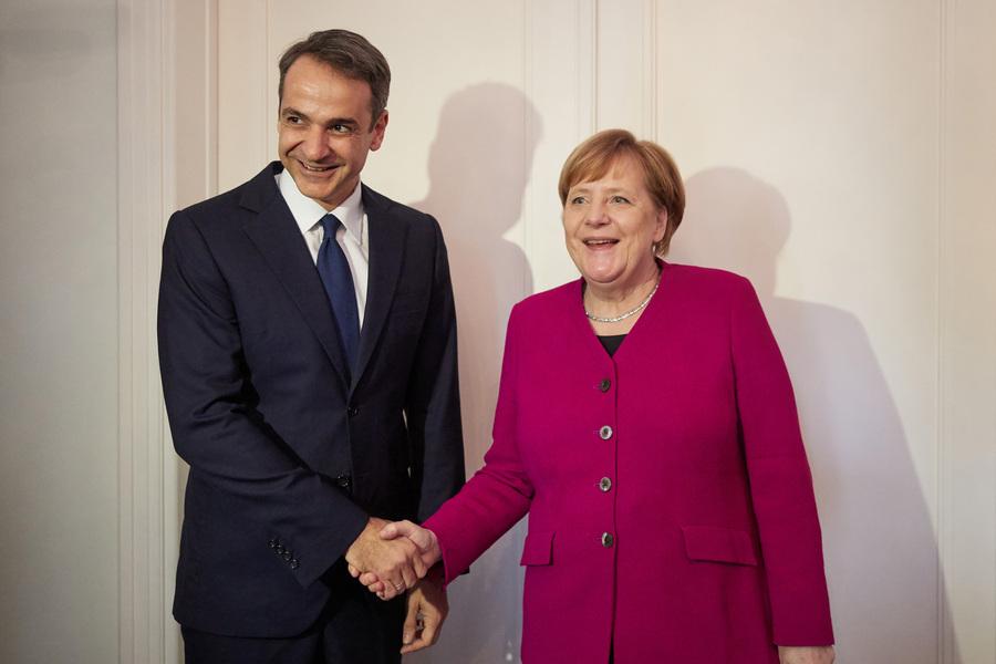 Μητσοτάκης για τη συνάντηση με Μέρκελ: Αδιαπραγμάτευτη η θέση μας για μη ψήφιση της Συμφωνίας των Πρεσπών