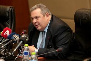Ο απερχόμενος υπουργός Εθνικής Άμυνας Πάνος Καμμένος μιλά κατά τη διάρκεια απολογιστικής συνέντευξης για το έργο του στο Υπουργείο Εθνικής Άμυνας, Δευτέρα 14 Ιανουαρίου  2019.  ΑΠΕ-ΜΠΕ/ΑΠΕ-ΜΠΕ/Παντελής Σαίτας