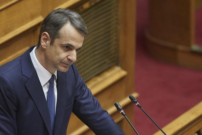 Ο πρόεδρος της ΝΔ, Κυριάκος Μητσοτάκης μιλάει, στη συζήτηση στην Ολομέλεια της Βουλής για παροχή ψήφου εμπιστοσύνης προς την κυβέρνηση, Τετάρτη 16 Ιανουαρίου 2019. Η συζήτηση θα ολοκληρωθεί με ονομαστική ψηφοφορία το βράδυ της Τετάρτης. ΑΠΕ-ΜΠΕ/ΓΡΑΦΕΙΟ ΤΥΠΟΥ ΝΔ/ΔΗΜΗΤΡΗΣ ΠΑΠΑΜΗΤΣΟΣ