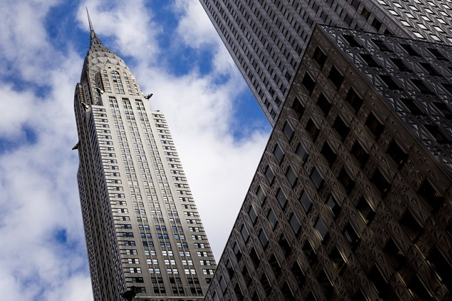 epa07271846 A view of the Chrysler Building in New York, New York, USA, 09 January 2019. The building, which was originally built in 1930 and has been owned by Abu Dhabi-based investment fund Mubadala and the real estate firm Tishman Speyer since 2008, is reportedly being put up for sale.  EPA/JUSTIN LANE