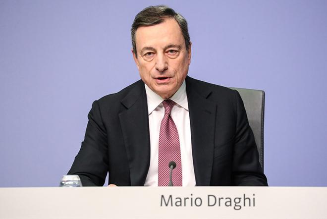 Ένα έτος περιορισμένης ανάπτυξης και σοβαρών εξωτερικών κινδύνων για τη ευρωζώνη προανήγγειλε ο Μάριο Ντράγκι