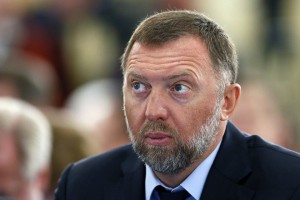 epa06697424 (FILE) - Oleg Deripaska, Russian aluminum giant RUSAL President, attends Russian Union of Industrialists and Entrepreneurs (RSPP) congress which is held within the Week of Russian Business in Moscow, Russia, 19 March 2015 (re-issued 27 April 2018). Media reports on 27 April 2018 state Oleg Deripaska has in principle agreed to reduce his stake in United Company Rusal to less than 50 per cent following the US Treasury's recently imposed sanctions against Rusal. Deripaska currently holds 70 per cent of Rusal. Deripaska's action would also see him resigning from Rusla's board.  EPA/YURI KOCHETKOV