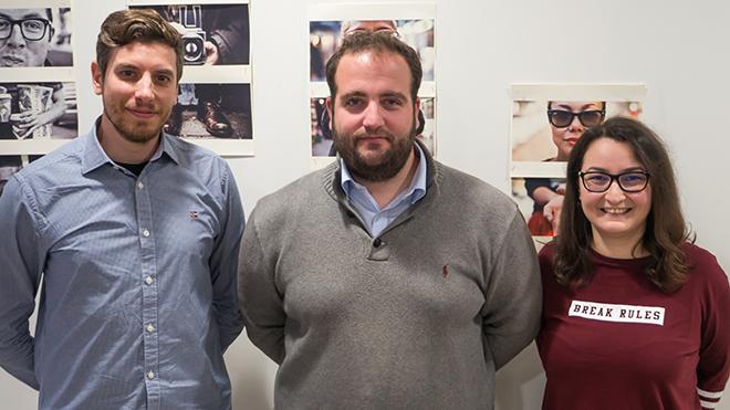 Από αριστερά προς τα δεξιά: Κωνσταντίνος Δημητρός - Λέων Γαβαλάς - Αναστασία Γρίβα