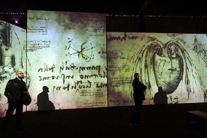 Audiovisual exhibition 'Leonardo Da Vinci - 500 Years of Genius' in Athens