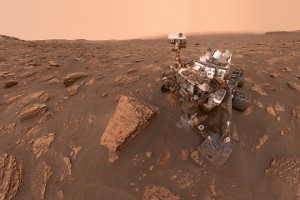 epa06827668 An undated handout photo made available by NASA on 21 June 2018 shows a self-portrait by NASA's Curiosity rover taken on Sol 2082, on Mars, 15 June 2018. A Martian dust storm has reduced sunlight and visibility at the rover's location in Gale Crater. A drill hole can be seen in the rock to the left of the rover at a target site called 'Duluth.'  EPA/NASA/JPL-Caltech/MSSS HANDOUT  HANDOUT EDITORIAL USE ONLY/NO SALES