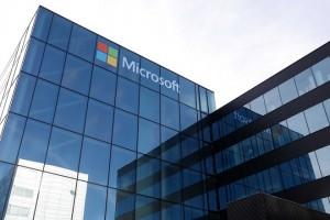 epa07133372 Exterior view on the renewed office of Microsoft Netherlands, in Schiphol, the Netherlands, 31 October 2018.  EPA/BAS CZERWINSKI