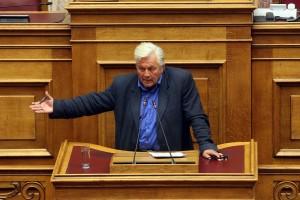 Ο βουλευτής των ΑΝΕΛ Θανάσης Παπαχριστόπουλος  μιλά  στη συζήτηση στην Ολομέλεια της Βουλής με θέμα: Κύρωση της Τελικής Συμφωνίας για την Επίλυση των Διαφορών οι οποίες περιγράφονται στις Αποφάσεις του Συμβουλίου Ασφαλείας των Ηνωμένων Εθνών 817 (1993) και 845 (1993), τη Λήξη της Ενδιάμεσης Συμφωνίας του 1995 και την Εδραίωση Στρατηγικής Εταιρικής Σχέσης μεταξύ των Μερώv, Τετάρτη 23 Ιανουαρίου 2019. ΑΠΕ-ΜΠΕ/ΑΠΕ-ΜΠΕ/Αλέξανδρος Μπελτές