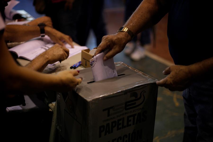 epa07341344 A man votes during the presidential election, in San Salvador, El Salvador, 03 February 2019. El Salvador is electing the President for the next five years.  EPA/Rodrigo Sura
