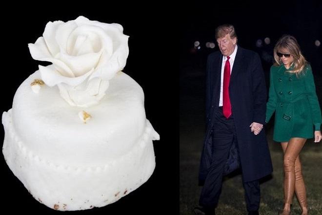 Πωλείται σε δημοπρασία τούρτα από τον γάμο του Τραμπ με τη Μελάνια