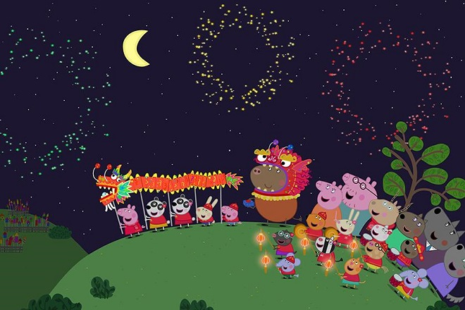 peppa pig lunar new year