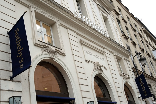 epa07287578 A view of Sotheby's auction house in Paris, France, 15 January 2019. Since October 2018, Sotheby's has increased by 43 percent the surface of its premises located in front of the Elysee, to offer more exhibitions, sales, conferences, according to media reports. With a turnover of 251.4 million euros in France against 234.4 million euros for Christie's and 195.3 million euros for Artcurial, the US firm achieves a record year in 2018.  EPA/CAROLINE BLUMBERG