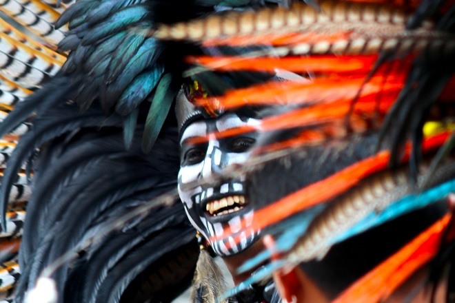 Aztec Pride. Παρέλαση περηφάνιας των ιθαγενών του Μεξικού. Zokalo, Mexico City. © Charalambos Vlachopoulos