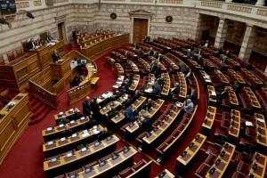 Ο αναπληρωτής υπουργός Εξωτερικων Γιώργος Κατρούγκαλος μιλά στη συζήτηση και ψηφοφορία στη Βουλή για το πρωτόκολλο ένταξης της πΓΔΜ στο ΝΑΤΟ, Παρασκευή 8 Φεβρουαρίου 2019.  ΑΠΕ-ΜΠΕ/ΑΠΕ-ΜΠΕ/Παντελής Σαίτας