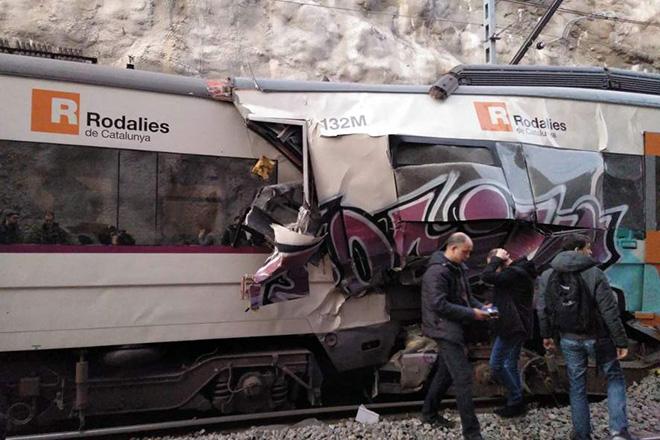 Σιδηροδρομικό δυστύχημα στα περίχωρα της Βαρκελώνης