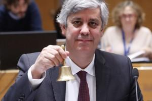 epa07205926 Eurogroup President, Portuguese Finance Minister Mario Centeno during the Eurogroup Finance Ministers' meeting in Brussels, Belgium, 03 December 2018.  EPA/OLIVIER HOSLET