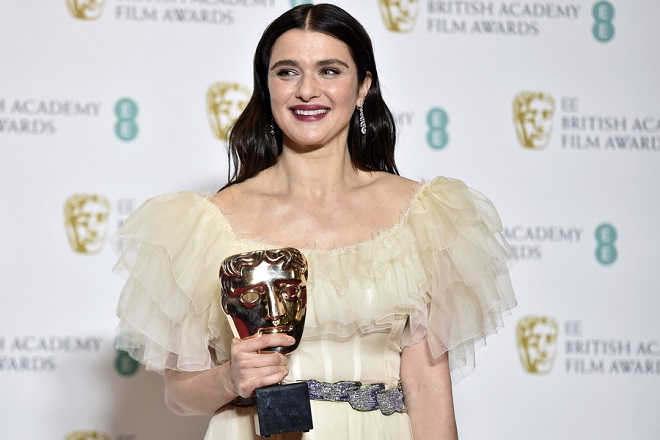 epa07360279 Rachel Weisz with her award for Best Supporting Actress in 'The Favourite' in the press room during the 72nd annual British Academy Film Awards at the Royal Albert Hall in London, Britain, 10 February 2019. The ceremony is hosted by the British Academy of Film and Television Arts (BAFTA).  EPA/NIK HALLEN