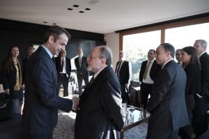Ο πρόεδρος της Νέας Δημοκρατίας Κυριάκος Μητσοτάκης συναντήθηκε με εκπροσώπους μεγάλων γερμανικών εταιρειών, τη Δευτέρα 11 Φεβρουαρίου 2019. ΑΠΕ-ΜΠΕ/ΓΡΑΦΕΙΟ ΤΥΠΟΥ ΝΔ/ΔΗΜΗΤΡΗΣ  ΠΑΠΑΜΗΤΣΟΣ