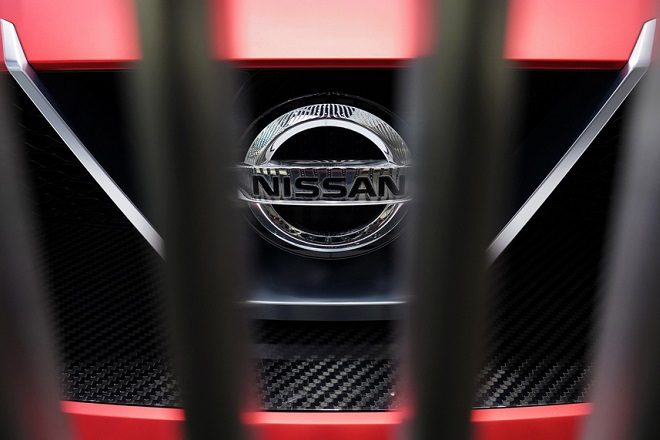 epa07363822 The Nissan logo is seen on a Nissan Concept 2020 Vision Gran Turismo displayed at the car maker showroom in Tokyo, Japan, 12 February 2019. Nissan Motor Co. announced financial results for the third quarter of fiscal year 2018, ending 31 March 2019, as well as for the first nine months.  EPA/FRANCK ROBICHON