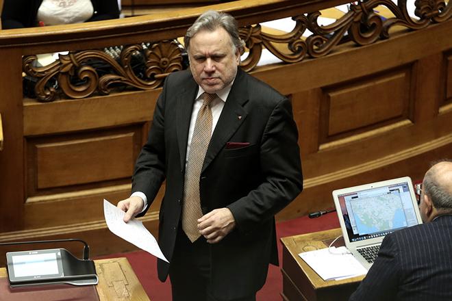 Ο αναπληρωτής ΥΠΕΞ Γιώργος Κατρούγκαλος παρίσταται στη συζήτηση για την αναθεώρηση του Συντάγματος, στην αίθουσα της Ολομέλειας της Βουλής, Αθήνα, Τρίτη 12 Φεβρουαρίου 2019. ΑΠΕ-ΜΠΕ/ΑΠΕ-ΜΠΕ/ΣΥΜΕΛΑ ΠΑΝΤΖΑΡΤΖΗ