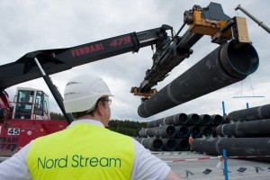 epa07366284 (FILE) - The first spare pipes for the Nord-Stream Baltic Sea pipeline are stored on shore in Lubmin, Germany, 19 June 2012 (reissued 13 February 2019). Reports on 13 February 2019 state the European Union has reached a provisional compromise agreement on more control on the Nord Stream gas pipeline that is currently being built across the Baltic Sea from Russia to Germany.  EPA/STEFAN SAUER  GERMANY OUT