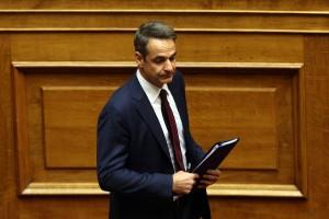 Ο πρόεδρος της Νέας Δημοκρατίας Κυριάκος Μητσοτάκης στην Ολομέλεια της Βουλής  στη συζήτηση για την αναθεώρηση του Συντάγματος, Αθήνα, Τετάρτη 13 Φεβρουαρίου 2019.  ΑΠΕ-ΜΠΕ/ΑΠΕ-ΜΠΕ/ΟΡΕΣΤΗΣ ΠΑΝΑΓΙΩΤΟΥ