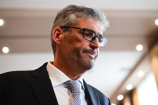 Peter Jacobs - vodja EIB predstavnistva v Sloveniji, EIB, predstavitev predstavnistva v Sloveniji; Ljubljana, Slovenija 28.09.2016 Foto: Jure Makovec