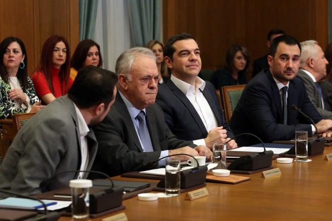 Ο πρωθυπουργός Αλέξης Τσίπρας προεδρεύει στο Υπουργικό Συμβούλιο που συνεδριάζει στην αίθουσα της Βουλής, Αθήνα Τετάρτη 20 Φεβρουαρίου 2019.  ΑΠΕ-ΜΠΕ/ΑΠΕ-ΜΠΕ/ΟΡΕΣΤΗΣ ΠΑΝΑΓΙΩΤΟΥ