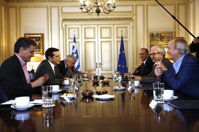 Ο πρωθυπουργός, Αλέξης Τσίπρας, συναντήθηκε με το Προεδρείο της Ένωσης Ελλήνων Εφοπλιστών, την Τετάρτη 27 Φεβρουαρίου 2019,  στο Μέγαρο Μαξίμου. ΑΠΕ-ΜΠΕ/ΑΠΕ-ΜΠΕ/ΑΛΕΞΑΝΔΡΟΣ ΒΛΑΧΟΣ