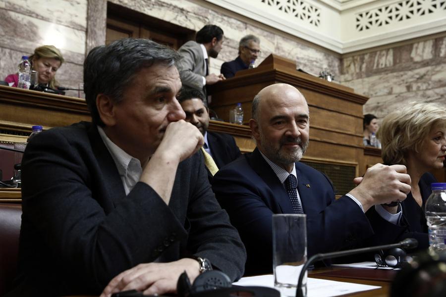 Μοσκοβισί στη βουλή: Μπορεί η Ελλάδα να έχει βγει από τα μνημόνια αλλά παρακολουθούμε την πορεία σας