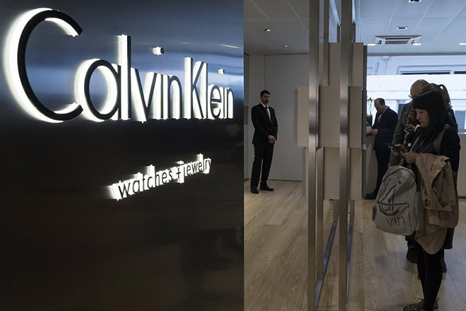 epa05870015 The Calvin Klein booth at the world watch and jewellery show Baselworld in Basel, Switzerland, 25 March 2017. The international trade show runs from 23 to 30 March.  EPA/GEORGIOS KEFALAS