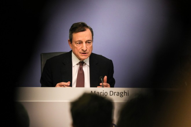 epa07419737 Mario Draghi, President of the European Central Bank (ECB), speaks during a press conference following the meeting of the Governing Council of the European Central Bank in Frankfurt Main, Germany, 07 March  2019.  EPA/ARMANDO BABANI