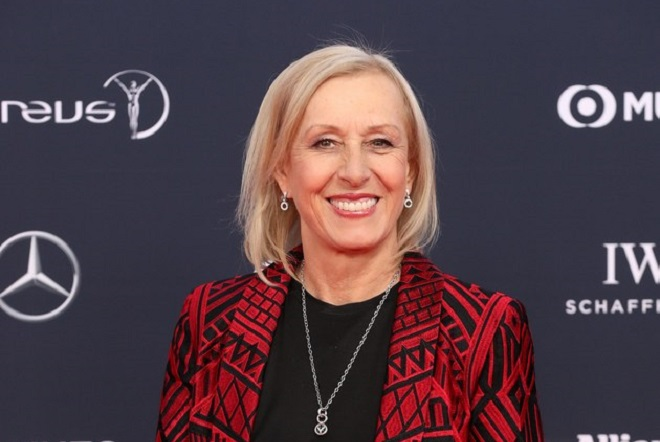 epa06569118 Former tennis player Martina Navratilova arrives at the 2018 Laureus World Sports Awards in Monaco, 27 February 2018. The annual Laureus Awards are held to honor people whom make a notable impact and remarkable accomplishments in the world of sport throughout the year.  EPA/SEBASTIEN NOGIER