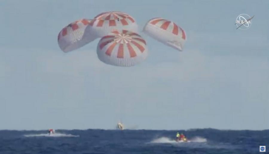 Crew Dragon undocks from the International Space Station