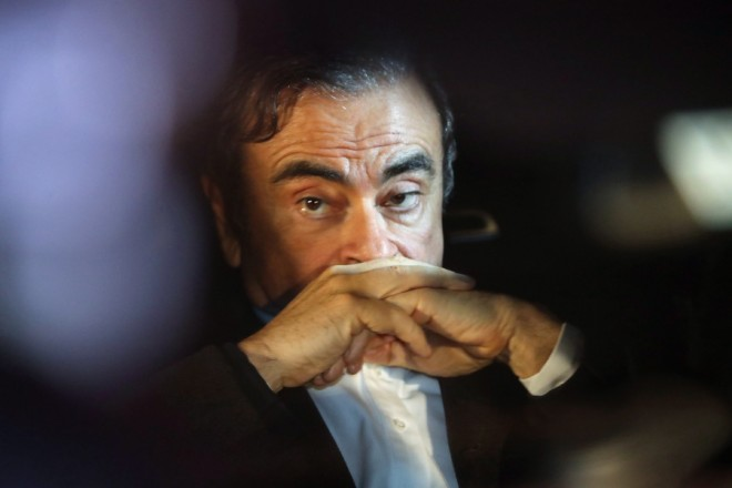 epa07417125 Carlos Ghosn, former Nissan and Renault chairman, sits in car after leaving his lawyers office in Tokyo, Japan, 06 March 2019. After Tokyo district court granted bail of former Nissan CEO Carlos Ghosn on 05 March, Carlos Ghosn was released on 06 March. The former Nissan and Renault chairman spent more than 100 days in jail after being accused by Japanese authorities of under-reporting his income.  EPA/JIJI PRESS JAPAN OUT EDITORIAL USE ONLY/  NO ARCHIVES