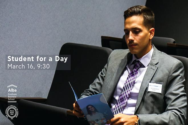 Student for a Day: μία «Business Unusual» εμπειρία για τους μελλοντικούς φοιτητές του Alba