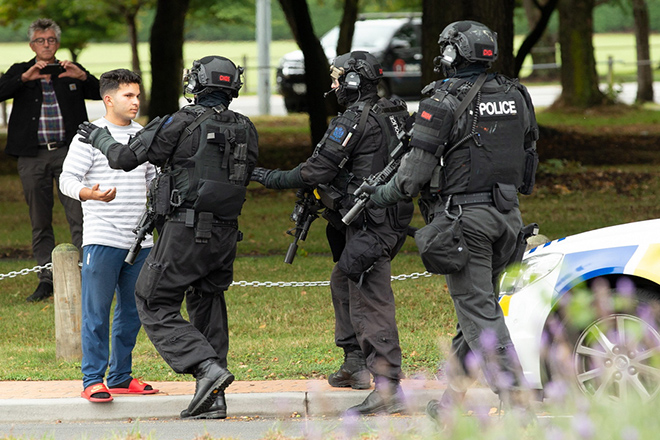 Gunman kills at least six people at mosque in Christchurch