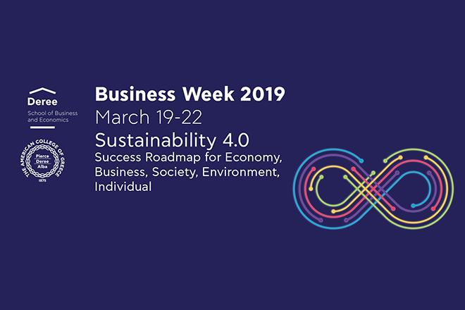 Sustainability 4.0: Η Business Week 2019 στο Deree ξεκινά