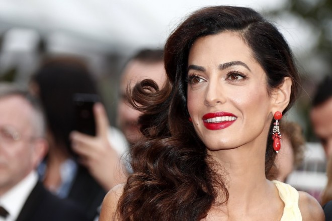 epa06479140 (FILE) - British human rights barrister Amal Clooney arrives for the screening of 'Money Monster' during the 69th annual Cannes Film Festival, in Cannes, France, 12 May 2016 (reissued 27 January 2018). Amal Clooney turns 40 on 03 February 2018.  EPA/IAN LANGSDON *** Local Caption *** 52751517