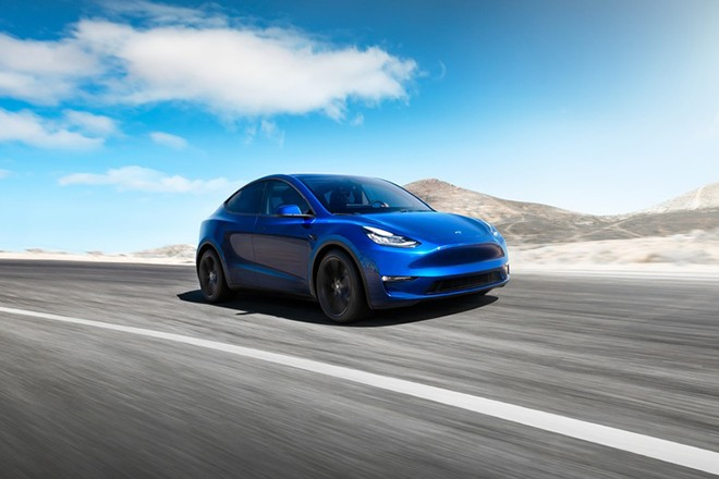 epa07438720 A handout photo dated 07 March 2019 and  made available 15 March 2019 by US automobile manufacturer Tesla, showing the new Tesla Model Y electric car that Tesla says will be released as of from 2020, Los Angeles, California, 14 March 2019. Model Y is an all-electric, mid-size SUV, starting at 39,000 USD for the standard version and 47,000 USD for the long-range version has a range of 300 miles or some 480 kilometers.  EPA/TESLA HANDOUT  HANDOUT EDITORIAL USE ONLY/NO SALES